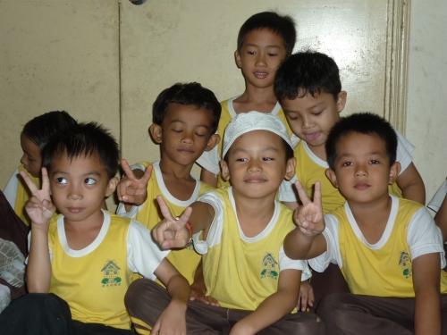 The boys of Taska and Tadika Permai Ria